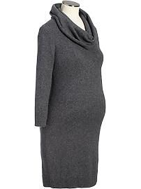 Maternity Cowl-Neck Sweater Dresses