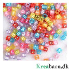Nyt på shoppen, Loom Alfabet Perler – Kreabarn.dk har Danmarks største udvalg af tilbehør og elastikker til loom, fun loom og rainbow loom.