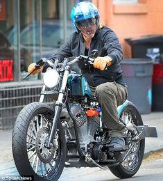 Brad Pitt - custom Harley-Davidson