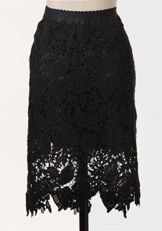 Metropolitan Crocheted Lace Skirt at #Ruche @Ruche