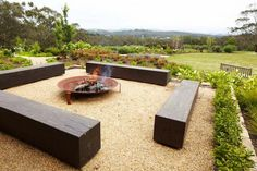 The Exterior Fire Pit Ring – Outdoor Kitchen Designs Garden Fire Pit, Fire Pit Backyard, Backyard Seating, Backyard Ideas, Firepit Ideas, Fire Pit Landscaping, Garden Landscaping, Landscaping Software, Landscaping Ideas
