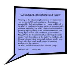 -Barbara Fox Jan 12 2021 Best Dentist, Latest Technology, Feeling Special, Make You Feel, Dental, Fox, Knowledge, Good Things, Feelings