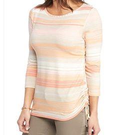 c1ce2e334ab Ruby rd. women plus size 1x 2x 3x striped 3 4 sleeve top shirt blouse tunic  new