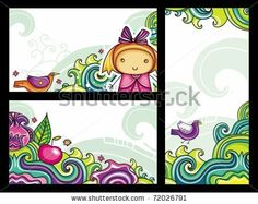 Decorative floral banners collection from floral series (part 2)