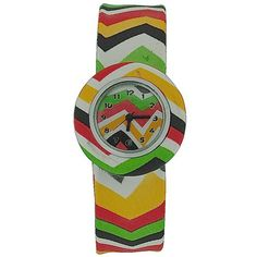Kids - Boys - Girls Analogue Aztec Brightly Coloured Slap On Sports Watch. A funky and fun watch by The Olivia Collection, this watch is the perfect balance of fun and functionality. This watch is an ideal gift for kids. Product Features: * Quartz movement. * Hour, minute and second hands. * Aztec design decorated strap. * Removable Case. Strap Measurements: * Length from one end of strap till other end 22cm. This watch is fully adjustable and fastens to fit the wrist with a gentle slap....