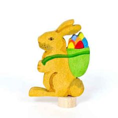 Rabbit with Basket Ornament for Birthday Rings