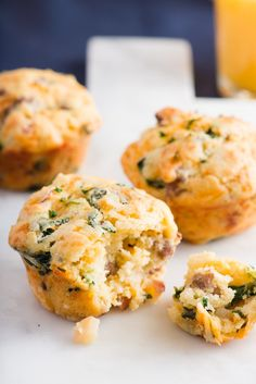 This savory muffin's got it all: eggs, sausage, cheese, spinach, and even a bit of apple to help you power through your day.