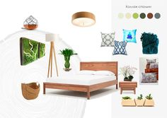 Contemporary Japanese Style Bedroom Collage By Kristina Zibrova Interior Design Course Student In European School Kiev Ukraine