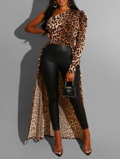 Print Leopard Long Womens Blouse We Offer Top Good Quality Cheap Clothes For Women And Men Clothing Wholesaler, Get Affordable Clothing At Worldwide. Jumpsuits For Women, Blouses For Women, Green Evening Dress, Long Skirt Outfits, Short Cocktail Dress, Long Blouse, African Fashion, Fashion Dresses, Shopping Mall
