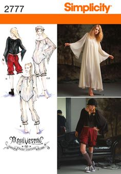Womens Costume Sewing Pattern 2777 Simplicity