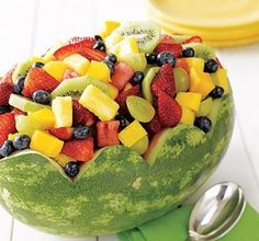 easy carved watermelon basket