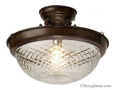 Crosscut Bowl Ceiling Light - for back door porch £168 (not a riority?)