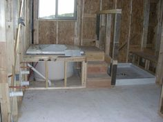 Shower Stall And Japanese Soaking Tub.