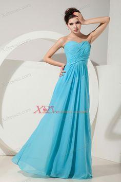 b0a5d7b41d5d Aqua Blue Empire Sweetheart Floor-length Chiffon Ruch Bridesmaid dresses  Aqua Blue Bridesmaid Dresses