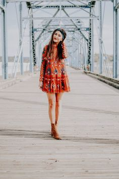 My Most Requested Fall Outfit- Free People Embroidered Dress OOTD