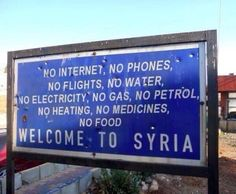 Welcome to Syria.