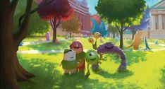 Monstres Academy - The Art of Disney Art Disney, Disney Kunst, Disney Pixar, Disney Magic, Disney Movies, Art And Illustration, Art Illustrations, Pixar Concept Art, Disney Concept Art