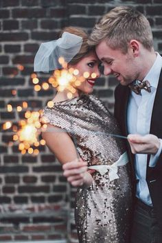 Couple Portrait Photo  How to Throw a Sparkling New Year's Eve Wedding  https://www.toovia.com/lists/how-to-throw-a-sparkling-new-year-s-eve-wedding