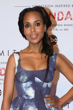 Kerry Washington Only Kerry Washington could make a rat-tail style braid look cool.