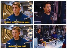 The Avengers ...The Stark tower? That big, ugly building in New York?