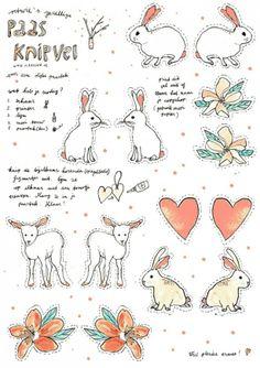 Leuk voor kinderen; knipvel voor Pasen