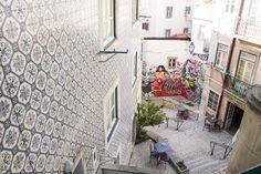 Becos e ruelas em Lisboa, Portugal