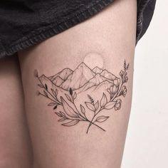 Ideen Tattoo Berglandschaft tat - Tattoos For Women Small Unique Mini Tattoos, Body Art Tattoos, Small Tattoos, Tattoos For Guys, Sleeve Tattoos, Small Simple Tattoos, Tatoos, Waist Tattoos, Simple Tattoos For Women