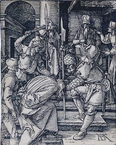 Christ Before Annas (The Small Passion) by Albrecht Durer. Circa 1510.