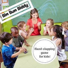 This Bim-Bum-Biddy Hand-Clapping Game lesson is fun and engaging! Kids will love this game AND it's packed with music standards. Have fun! Songs For Toddlers, Kids Songs, Kids Music, Drum Lessons, Lessons For Kids, Hand Clapping Games, Ukulele Songs Beginner, Welcome Songs, Elementary Music Lessons