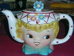Lefton Dainty Miss Vintage Tea Pot from knowabouttheworld on Ruby Lane