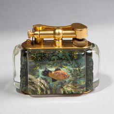 vintage dunhill acquarium lighter - Google Search