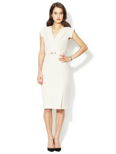 Simple et chic....Wrap Front Sheath Dress by Ava & Aiden at Gilt