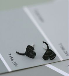 Tiny Leaf Studs by afjewellery on Etsy