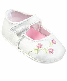 First Impressions Baby Shoes, Baby Girls Flower Embroidered Mary Janes
