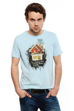 Dieses Shirt mit dem Thema Nachhaltigkeit gibt es in maize und in skyblue. Du hast die Wahl.