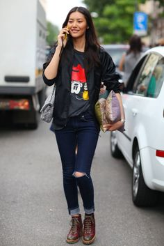 All the Best Street Style Straight From Milan Fashion Week! #liu wen