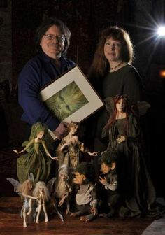 Brian and Wendy Froud-authors and artists of the most beautiful fairy books ever, production designers on The Dark Crystal, and all-around amazing people. :)