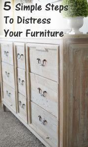 5 Simple steps to distress your own furniture