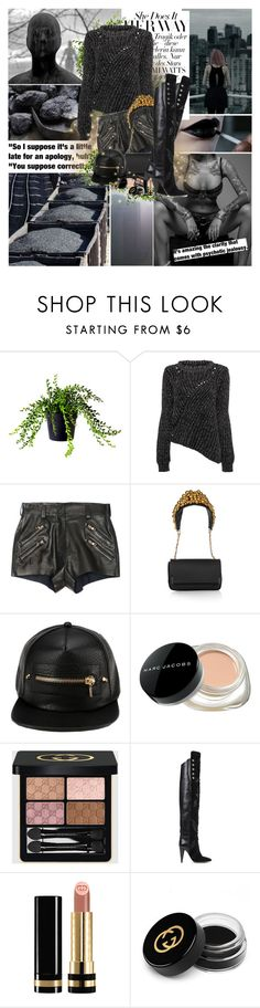 """Elemental: Coal"" by lady-redrise ❤ liked on Polyvore featuring Balmain, Christian Louboutin, Marc Jacobs, Gucci, Isabel Marant and Macabre Gadgets"