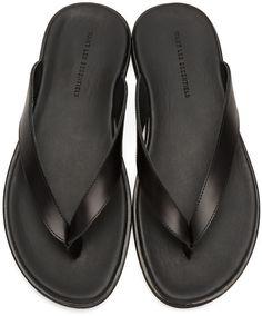 9c338fd021f5 Want Les Essentiels - Black Dumont Sandals Gents Slippers