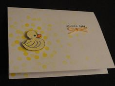 Sweet Unisex Baby Card by 2kidsonly2arms - Cards and Paper Crafts at Splitcoaststampers