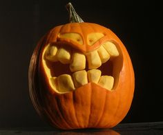 Grinning Pumpkin by petern, great teeth and eyes