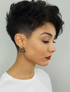 Latest Short Pixie Cuts Short pixie haircuts cause unprecedented interest in women, pixie is particularly popular in In the photo you can see th., Pixie Cuts hair women 28 Latest Short Pixie Cuts You'll Love for Summer 2019 - Short Pixie Cuts Short Hairstyles For Thick Hair, Short Pixie Haircuts, Curly Hair Styles, Women Pixie Haircut, Haircut Short, Latest Hairstyles, Short Female Haircuts, Pixie Haircut Thick Hair, Pixie Cut Hairstyles