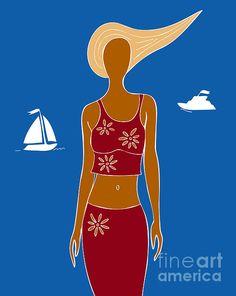 Beach days illustration