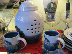 Hand thrown Maine pottery