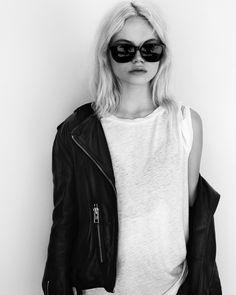 #BIKERPORTRAITS Zoe wears the Balfern Leather Biker and Mazzy Devo Tee