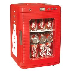 Coca-Cola Mini Fridge.