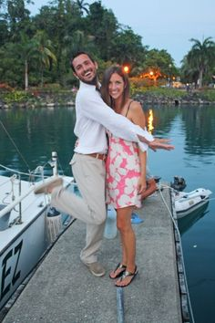Getting fancy in Port Antono, Jamaica.  | mjsailing.com | sailing blog