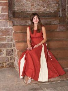 Ärmelloses Kleid rostrot