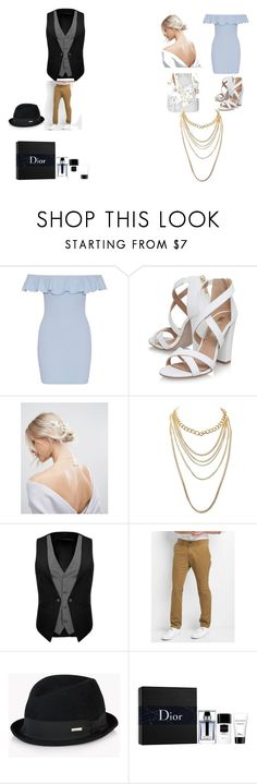 """""""brides maid and grooms men"""" by k-pradafurnishing on Polyvore featuring Miss KG, ASOS, Charlotte Russe, Gap, Dsquared2 and Christian Dior"""